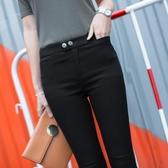窄管長褲 打底褲女外穿薄款小腳褲黑色百搭緊身鉛筆褲