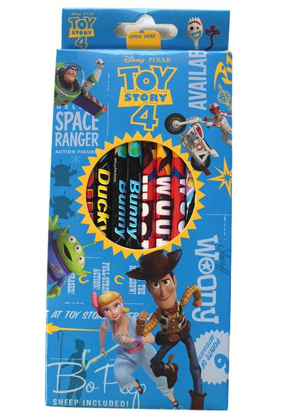 【卡漫城】 玩具總動員 木頭 鉛筆12入組 ㊣版 圓桿 Toy Story 4 文具 胡迪 牧羊女 三眼怪 迪士尼