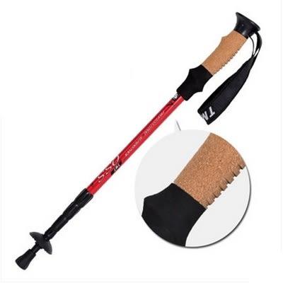 登山杖-軟木舒適手柄爬山必備用品透氣好拿拐杖5色71c11[時尚巴黎]