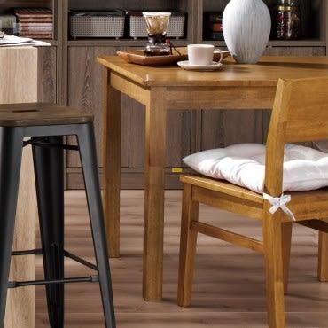 Deep實木餐桌 120x75x74cm 實心橡膠木材質環保