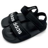 《7+1童鞋》中大童 ADIDAS 輕量 休閒 防水涼鞋 7350 黑色