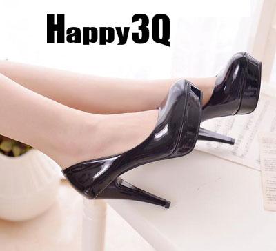 氣質甜美防水台漆皮超高跟婚鞋女鞋(11cm)-黑/白/杏/紅34-39【AAA0096】預購