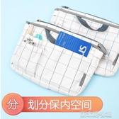 格子印象包中包簡約小清新兩用型收納包大容量多功能背包女生用化妝包WSG-BB 新北購物城