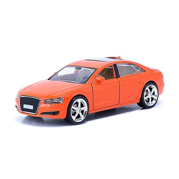 Audi橘 經典豪華炫光合金模型車 (OS小舖)