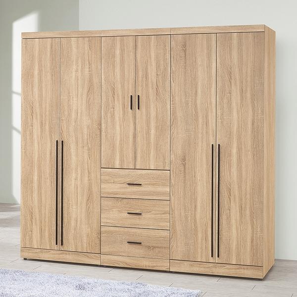 【森可家居】穆得7尺組合衣櫃(全組) 8ZX340-5 衣櫥 木紋質感 日系無印北歐風