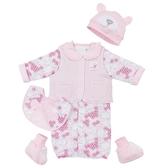 【愛的世界】鋪棉兩用嬰衣禮盒/3M~6個月-台灣製- ★禮盒推薦