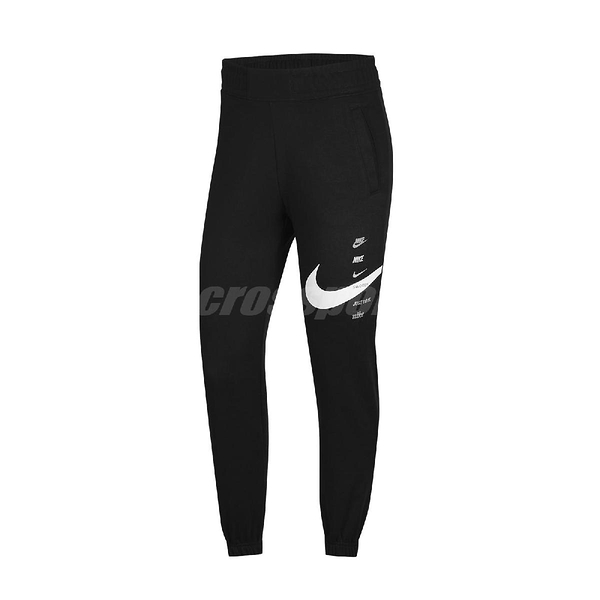 Nike 長褲 NSW Swoosh Trousers 黑 白 女款 縮口褲 運動休閒 【ACS】 CU5632-011