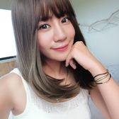 魔髮樂 韓系全頂假髮 時尚冷棕 髮色霧面 自然中長髮 直髮 高品質假髮 H6119