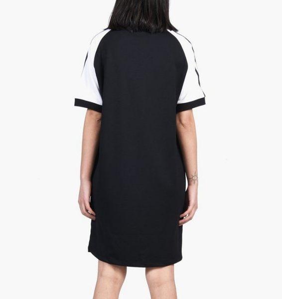 ISNEAKERS ADIDAS ORIGINALS 黑色 黑白 運動 長版 短袖 短T T恤 連身 洋裝 CE4961