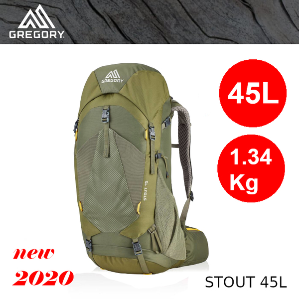 【速捷戶外】美國GREGORY 126872 STOUT 45L 男款輕量健行登山背包(茴香綠),2020新款