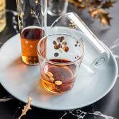 創意耐熱玻璃金點玻璃杯家用飲料杯果汁杯啤酒杯威士忌杯 亞斯藍