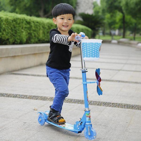 滑板車 滑板車兒童2-3-6歲4小孩寶寶男女單腳踏板滑滑車三四閃光輪溜溜車【快速出貨八折下殺】