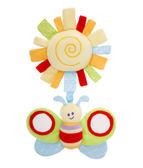 里和家居 l 英國Little Bird Told Me寶寶認知玩具 叮噹搖鈴系列-向日葵蜜蜂 精美提把禮盒包裝