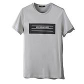 短袖T恤-絲光棉字母壓皮圓領男上衣3色73mj22【巴黎精品】