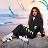 PUMA EVIDE 蔡依林款黑X綠短版復古風衣外套 -NO.59777001