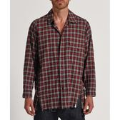 OneTeaspoon 襯衫 UPSIZED CHECK ZIP SHIRT-紅(男)