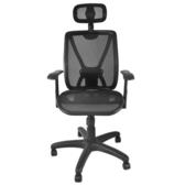 凱堡 高背頭枕ONE透氣坐墊工學椅電腦椅/辦公椅【A36144】