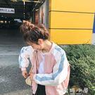 日式外套女2019新款潮春秋百搭韓版拼接...