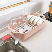 廚房置物架瀝水碗架放碗筷收納箱帶蓋碗筷瀝水架收納架子塑料碗櫃   XY2827   【KIKIKOKO】
