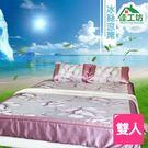 【佳工坊】電視熱銷 頂級冰絲涼蓆三件床包...