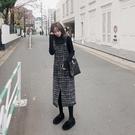 洋裝小香風 時尚裙女秋冬新款毛呢背帶連衣裙子洋氣減齡 莎瓦迪卡