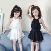 兒童泳衣女童游泳衣連體公主裙式小童女孩寶寶中大童學生親子泳裝   魔法鞋櫃