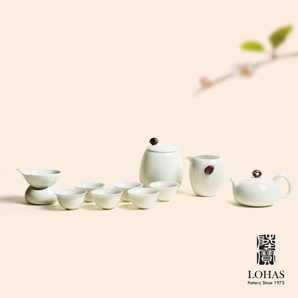 【陸寶LOHAS】泉石印象茶禮 茶席如畫 1壺1海6杯1茶濾1茶葉罐1水方1活水球 新中式茶宴