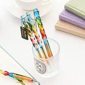 【BlueCat】炫彩旋轉水晶透明水性筆 中性筆
