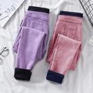 加絨牛仔褲女褲子女2019新款韓版高腰修身顯瘦小腳加厚保暖鉛筆褲