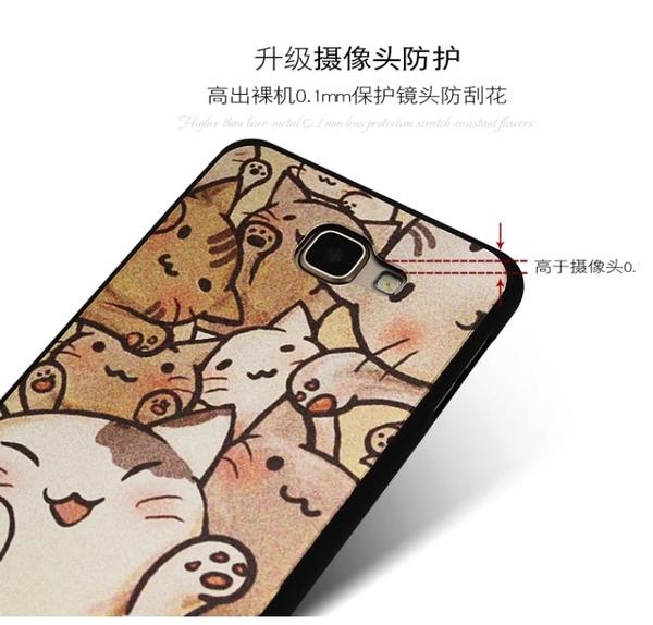 出清商品下殺-88柑仔店~三星 Galaxy J7 Pro 手機殼2016A8卡通保護套彩繪全包手機殼硅膠手機套C9 Pro