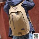 休閒雙肩包男士帆布背包學院風書包中學生旅行電腦包