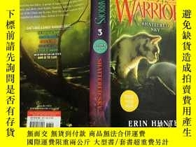 二手書博民逛書店英文原版兒童讀物罕見Warriors: A Vision of Shadows #3: Shattered Sky