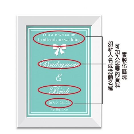 幸福婚禮小物❤蒂芬妮迎賓板❤迎賓牌/禮桌桌卡/婚宴用品/客製化/會場佈置