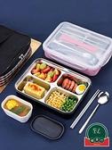不銹鋼帶蓋飯盒保溫便攜分隔型上班族餐盒套裝【福喜行】