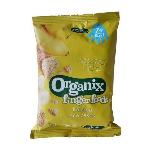英國Organix 歐佳寶寶香蕉米餅~50G(七個月)