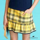 下擺蕾絲滾邊格紋褲裙 Scottish House【AC2109】