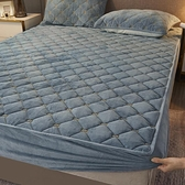 床罩 繡花珊瑚絨床笠床罩單件加厚夾棉法蘭絨床墊套冬季水晶絨防滑固定【快速出貨】