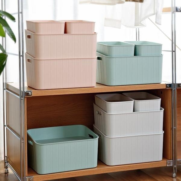尺寸超過45公分請下宅配 塑料帶蓋收納箱 家用衣服玩具整理箱學生寢室雜物小儲物箱