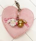 【震撼精品百貨】Sugarbunnies 蜜糖邦尼~三麗鷗蜜糖邦尼造型吊飾附鏡-愛心#47183