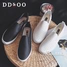 新款夏季透氣小白鞋鏤空夏款一腳蹬女鞋懶人基礎百搭網面白鞋