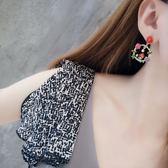 花環珍珠可愛小鳥花朵氣質耳環耳墜簡約個性小屋百搭耳釘耳飾【ADE901】