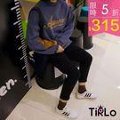 T袖-Tirlo-草寫英字落肩跳色長袖T...