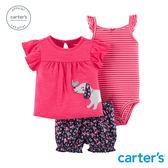 Carter's台灣總代理 小花狗3件組套裝