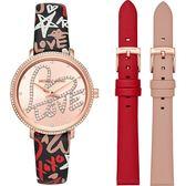 Michael Kors 國際精品錶 公司貨 LOVE就是愛 晶鑽套錶 時尚玫瑰金 鑲鑽 女錶 MK2848