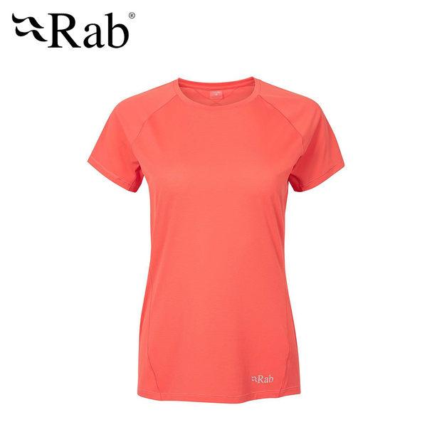 英國 RAB Force SS Tee 透氣短袖排汗衣 女款 茄醬橘 #QBU56