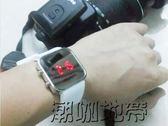 兒童電子手錶 女 學生防水夜光LED藍光鏡子錶 男孩韓版果凍錶【潮咖地帶】