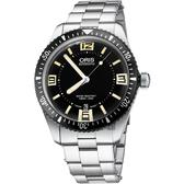 ORIS 豪利時 Divers Sixty-Five 1965復刻機械錶-黑/40mm 0173377074064-0782018