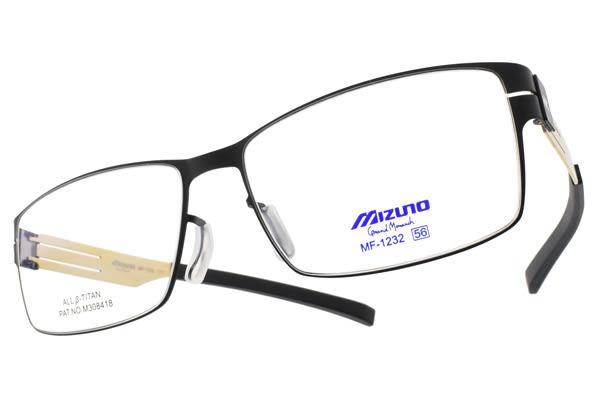 MIZUNO 美津濃 光學眼鏡 MF1232 C71 (黑-金) 輕薄簡約款 β鈦眼鏡 # 金橘眼鏡