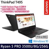 【ThinkPad】T495 20NJS04E00 14吋AMD四核256G SSD效能Win10商務筆電(二年保固)