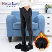 女童裝黑色加絨褲中大童休閒牛仔長褲加厚保暖韓版 歐韓時代